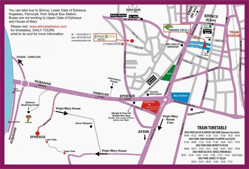 Harita Selcuk ürkmez Hotel Selcuk Efes Merkezinde 50 Tl Den